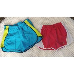 set of athletic shorts